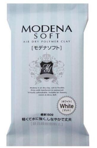 white soft /& translucent Modena clay Japan by Padico Clay