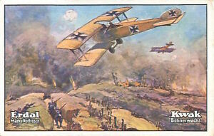 N-4-World-War-Infantry-Flyer-Slanted-Fokker-Reichswehr-Germany-WWI-50-039-s-CHROMO