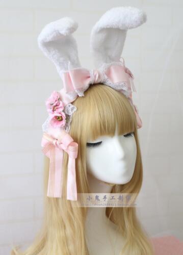 Headband Lolita Hair Accessories Sweet Japanese Kawaii Bow Kawaii Rabbit Ears #5