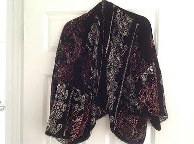 Short Silk Velvet Lined Devore Jacket OSFA