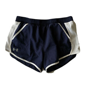 Under-Armour-Womens-Sz-M-Navy-Blue-Lined-Athletic-Shorts