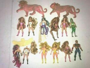 Lot-of-Vintage-She-Ra-Princess-of-Power-Action-Figures-for-Parts-Repair