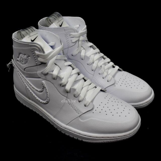 f831727bcd80a6 NWT Nike Air Jordan 1 Retro Hi NCXL Noise Canceling Pack Triple White  AUTHENTIC