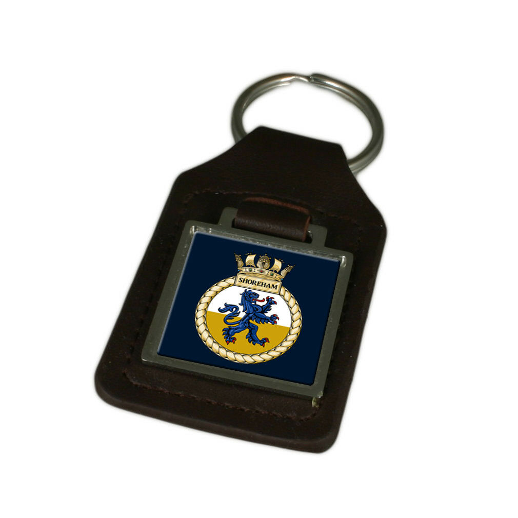 Königliche Marine Hms Shoreham Graviert Graviert Graviert Schlüsselanhänger aus Leder | Helle Farben  ee1ab5