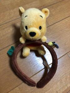 Tokyo Disney Resort Winnie the Pooh Headband Ears Hat Plush Doll ... b99221a8a7f7
