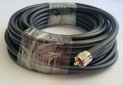 Noncontaminating Coax Cable Double Shield RG213U 50/' UHF PL259 N Male Connector