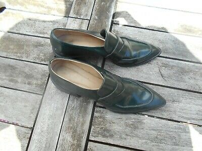 Intenzionale Rare Chaussures Zara Vert Sapin T 39 Tbe Vintage Collector A 16€ Ach Imm Fp Red