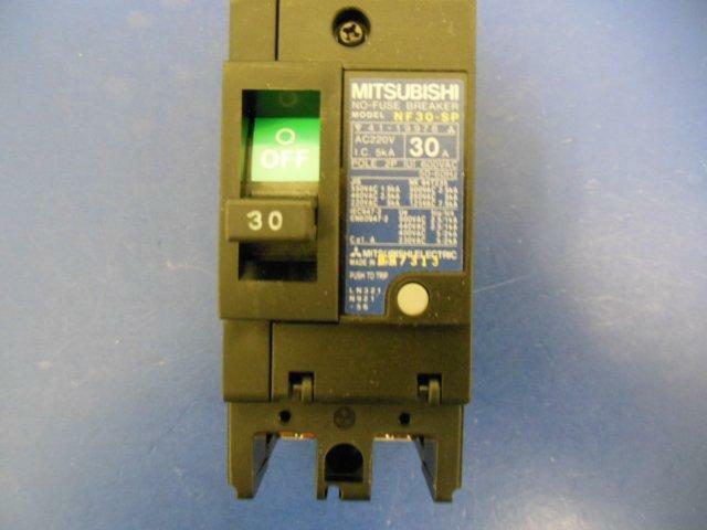 MITSUBISHI 15A NO FUSE BREAKER W SWITCH NF30-SP *PZB*