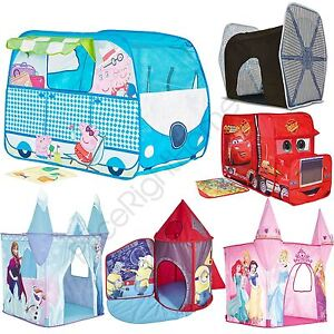 Image is loading POP-UP-PLAY-TENTS-FEATURE-KIDS-DISNEY-PRINCESS-  sc 1 st  eBay & POP UP PLAY TENTS FEATURE KIDS DISNEY PRINCESS FROZEN CARS ...