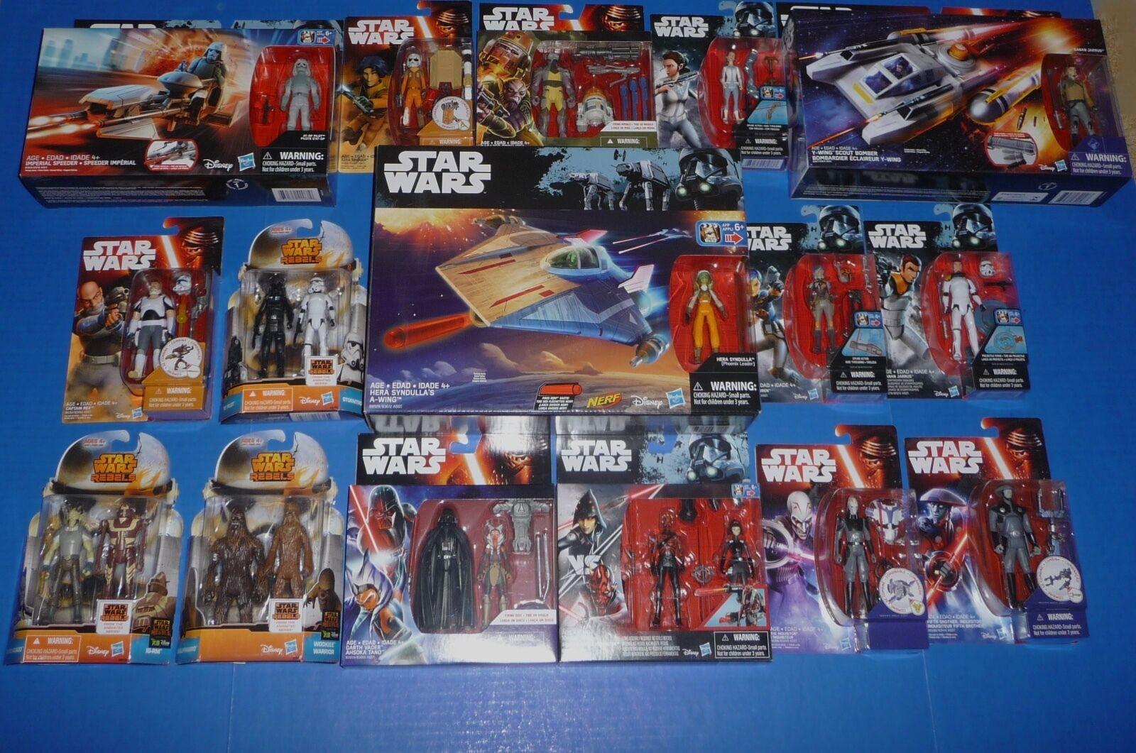 Star Wars Rebeldes Figuras  barcos SetLote-Ahsoka, Maul, Sabine, Hera, Ezra, Vader