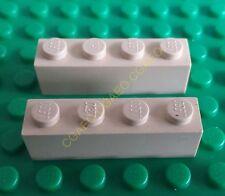 2 X Lego  3010 Brick 1 x 4 (Tan)