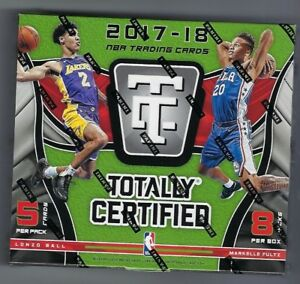 2017-18-Panini-Totally-Certified-Basketball-Factory-Sealed-Hobby-Box