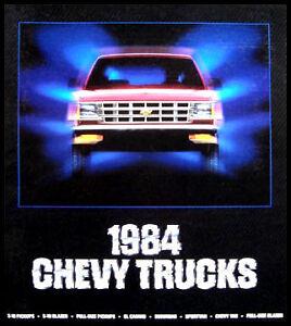 1984 chevy chevrolet truck original sales brochure blazer el image is loading 1984 chevy chevrolet truck original sales brochure blazer fandeluxe Gallery