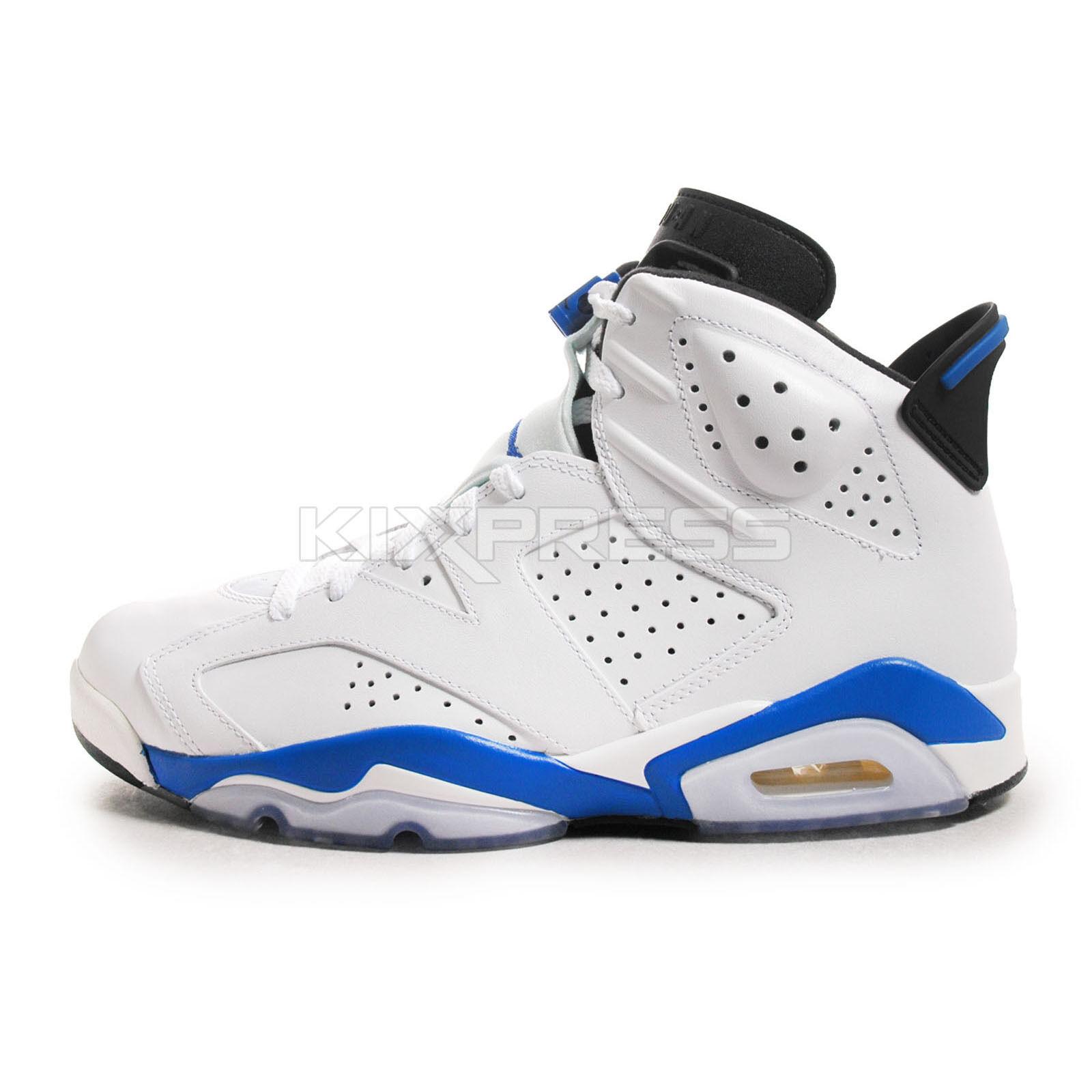 6b34bbcf38 Nike Air Jordan 6 Retro [384664-107] Basketball White/Sport Blue-