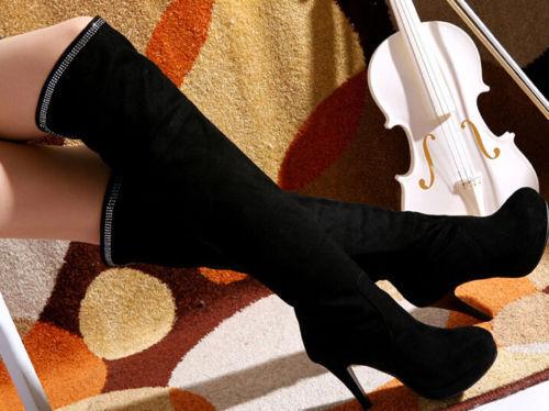 Botines botas de mujer talón 12.5 cm cm cm negro oro elegantes caldi cómodo 8958  diseño simple y generoso