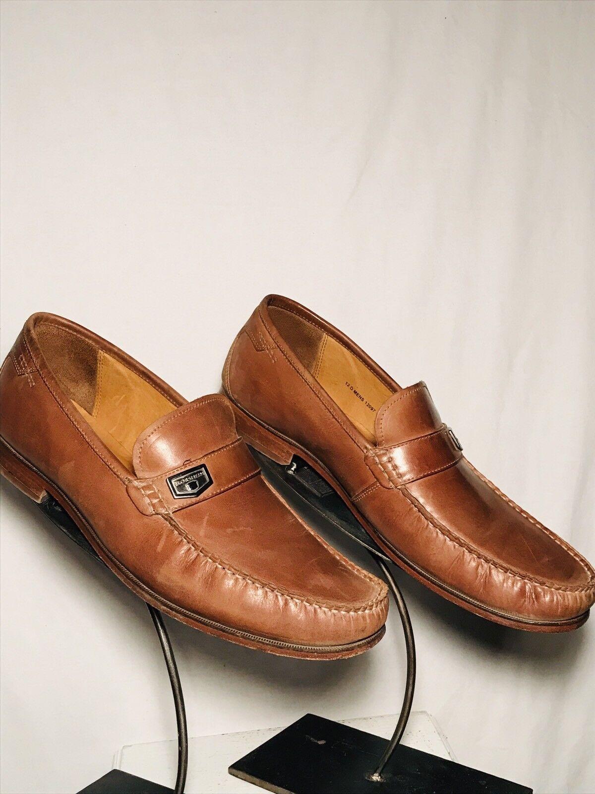 Florsheim Imperial Blrown Blrown Blrown Pelle Loafers Uomo Size 12D fd82b5