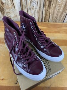 limpiar facil de manejar Experimentar  Converse Womens Burgundy Patent Leather All Star Chuck Taylor Sz. 9 Dark  Sangria | eBay