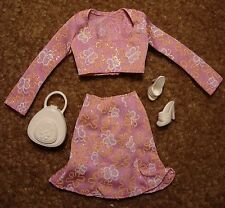 1998 Barbie Fashion Avenue Boutique #20567 Pink Floral Skirt Set Complete Ex.+