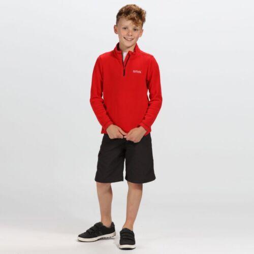 Regatta Hotshot Kids Fleece Girls Boys School Zip Top Jumper Hot Shot II Childs