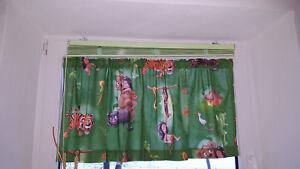 Kinderzimmer junge dschungel  Gardine Scheibengardine Querbehang Kinderzimmer grün Junge Dschungel ...