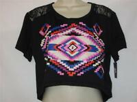 Material Girl Intimates Sleep Top Size Black W/ Geometric Print Size Small