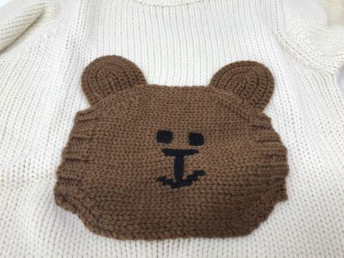 Christmas Holiday Baby GAP Bear Crewneck Sweater Long Sleeve Cable Knit