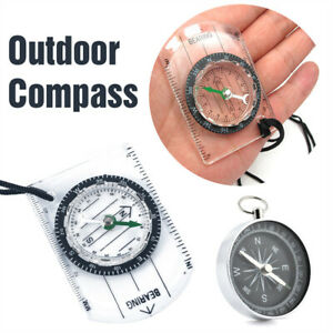 Scouts-Military-Compass-Scale-Ruler-Base-Plate-Mini-Compass-For-Hiking-Camping