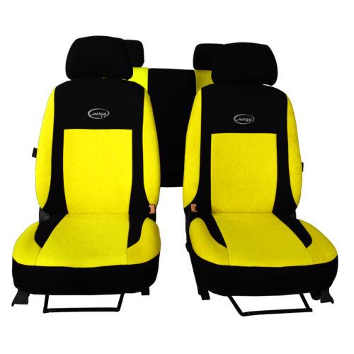 Universal Sitzbezüge Gelb für Mercedes C Klasse W202 Schonbezüge Autositzbezug