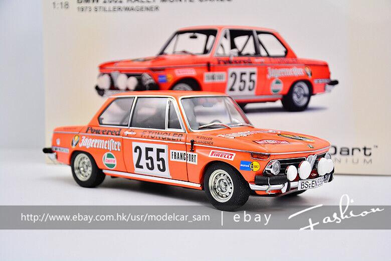 AutoArt 1 18 BMW 2002 1973 RALLY MONTE CARLO  255