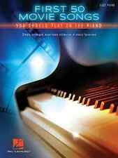 """""""FIRST 50 MOVIE SONGS YOU SHOULD PLAY ON THE PIANO"""" EASY PIANO MUSIC BOOK NEW"""