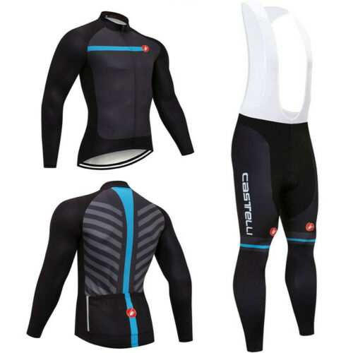 2018 Cycling Jersey Sets Long Sleeve Bicycle Clothing Men Mtb Bike Bib Gel Pants