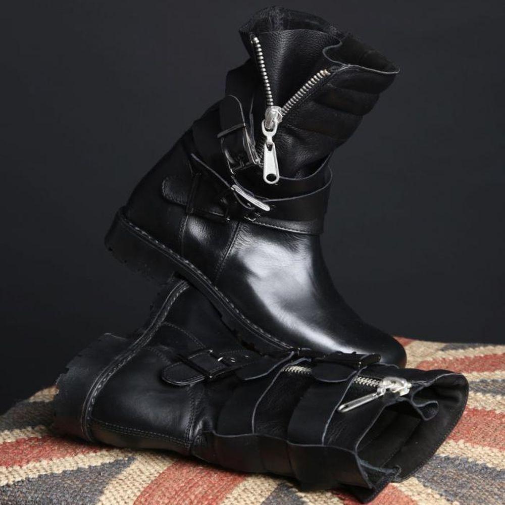 By alina botines botas zapatos señora zapatos botas negro 36 37 38 39
