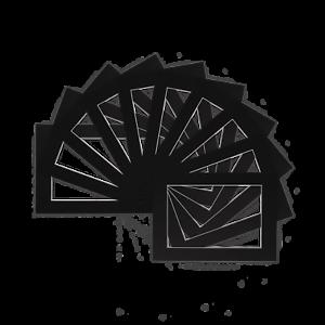 Paquete-De-10-Foto-Imagen-de-montaje-soportes-de-marco-Vario-Tamano-A4-A3-Negro