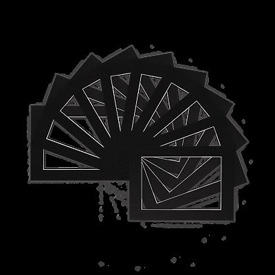 Confezione Di 10 Foto, Immagine Mount, Supporti Per Telaio-varie Dimensioni A4 A3-nero- Aspetto Elegante