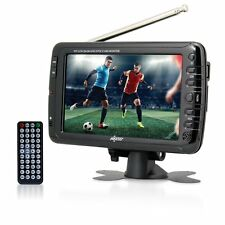 Axess 7-Inch, LCD TV w/ATSC Tuner, Rechargeable Battery & USB/SD Inputs, LCD TV