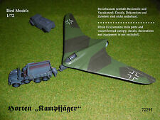 "Horten ""Kampfjäger""        1/72 Bird Models Resinbausatz / resin kit"