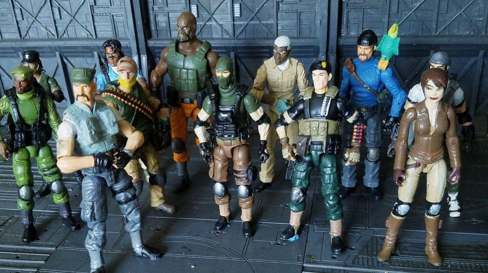 los últimos modelos Personalizado 3.75   G.I. Joe  el Resolute Resolute Resolute  Gi Joe equipo figuras de acción figura Set (14)  nuevo sádico