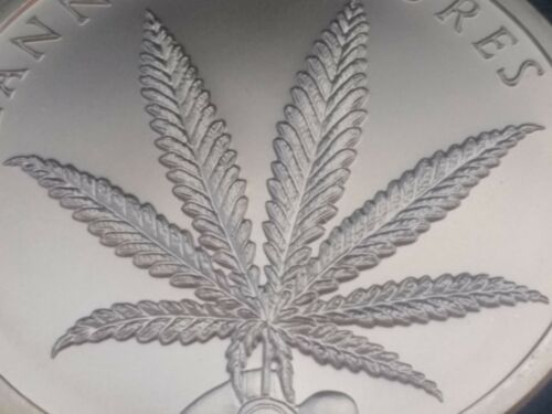 2 oz silver cannabis cures weeds pot Mary Jane limited BU COA  .999 pure fine!