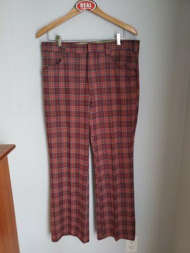 Vintage 80s Wrangler Plaid Polyester Golf Pants Fl