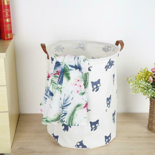 Standing Toy Clothing Large Storage Bucket Holder Pouch Household Laundry Basket