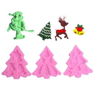 Backform-Silikon-Weihnachtsmann-Weihnachtsbaum-Elch-Schneeflocke-Fondant-Kerze