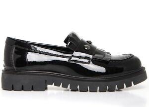 NERO GIARDINI A732620F TEEN scarpe donna francesine mocassino inglesine sneakers