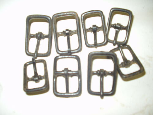"""Eight  5//8/"""" and 3//4/"""" HILASON  DIE CAST CENTER BAR HORSE WESTERN TACK BUCKLES"""
