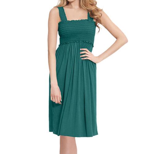 Damen Umstandskleid Umstands Ärmellos Trägerkleid Stillkleid Umstandsmode Kleid