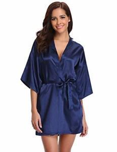 les ventes chaudes 69464 f2abe Détails sur Peignoir satin femme kimono sexy, robe de chambre, sortie de  bain nuisette