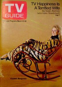 TV-Guide-1969-Bewitched-Elizabeth-Montgomery-Barbara-Bain-VG-COA-Rare