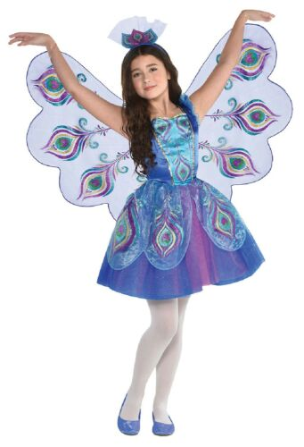 Filles Colorful Peacock Bird carnaval Fancy Dress Costume Outfit /& Ailes 3-10Yrs