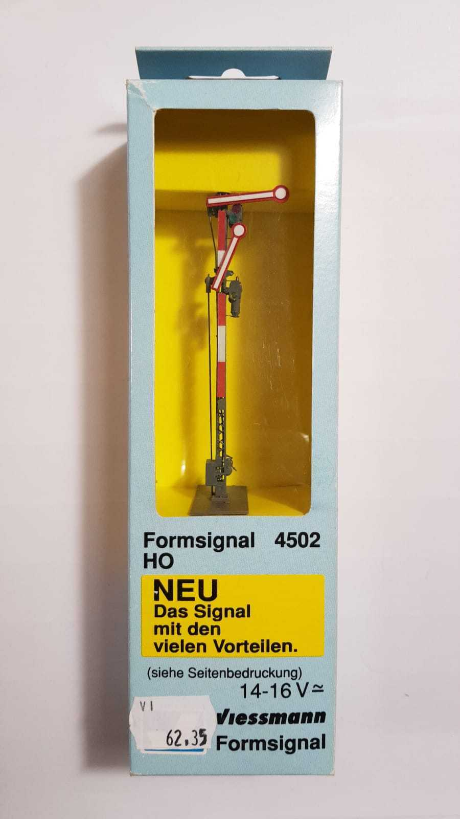 4502 VIESSMANN ESCALA H0 - Semaphore main signal, double arm, unlinked (c6)