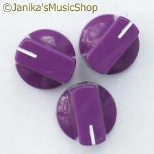 3 Interruptor Potenciómetro púrpura Perillas Amplificador De Guitarra etc. Estufa Olla Tornillo de perilla +