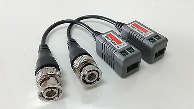 100pcs Lot BNC pigtail HD video balun via CAT5e Cat6 UTP HD Security Cameras